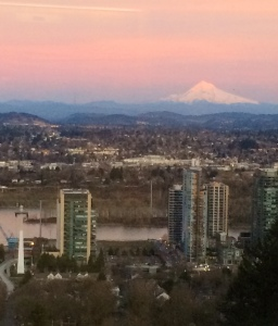 Mount Hood, at 7 am in January